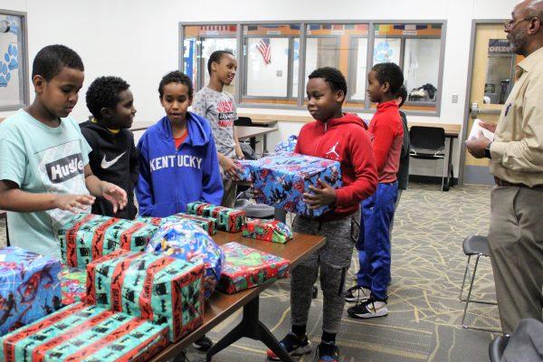 Boys 2 Men Club at Edmunds Receives Holiday Donations!